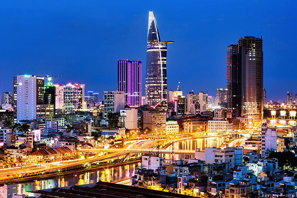 Thành phố Sài Gòn lộng lẫy về đêm