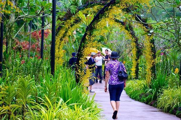 Vườn bách thảo Singapore đẹp tự nhiên