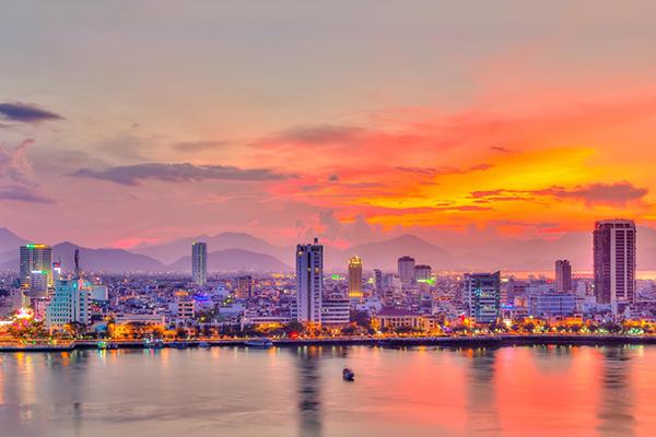 Khung cảnh hoàng hôn tuyệt đẹp ở Đà Nẵng