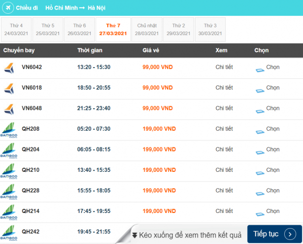 Chọn vé máy bay giá rẻ từ các hãng hàng không